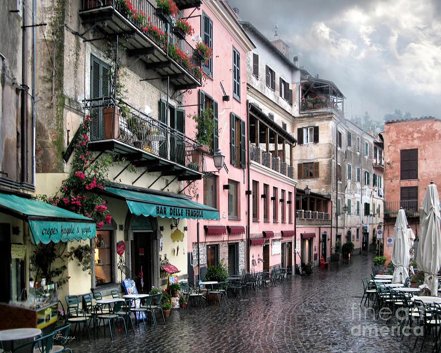 Pizziera Ortica Photograph - Rainy Day In Nemi. Italy by Jennie Breeze