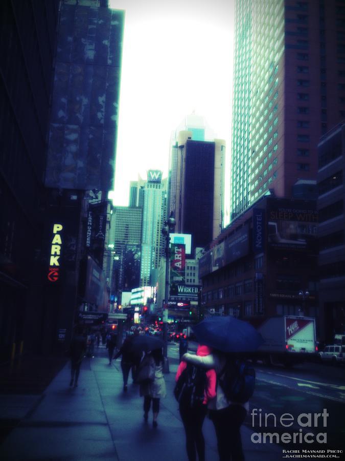 New York Photograph - Rainy Day New York City by Rachel Maynard
