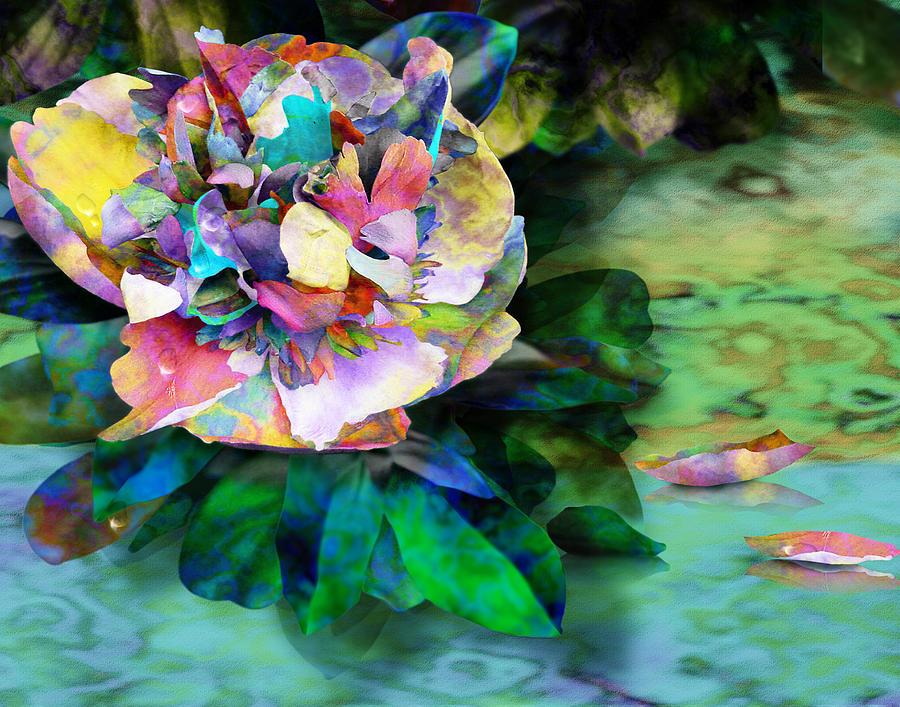Peony Digital Art - Rainy Day Peony by Gae Helton