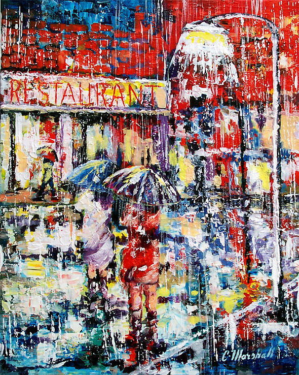 Painting Painting - Rainy Day People by Claude Marshall