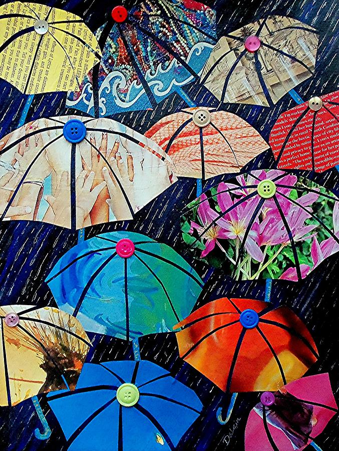 Wisconsin Artist Painting - Rainy Day Personalities by Susan DeLain