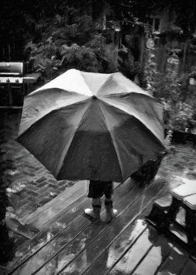 Child Photograph - Rainy Day by Winnie Chrzanowski