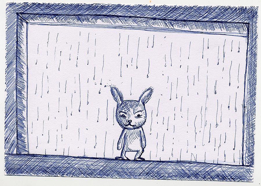 Rainy Day Drawing by Yi Li Chuang