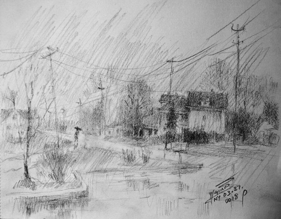 Rainy Day Painting - Rainy Day by Ylli Haruni