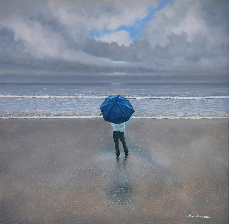 Sea Painting - Rainy Days And Mondays by Paul Newcastle