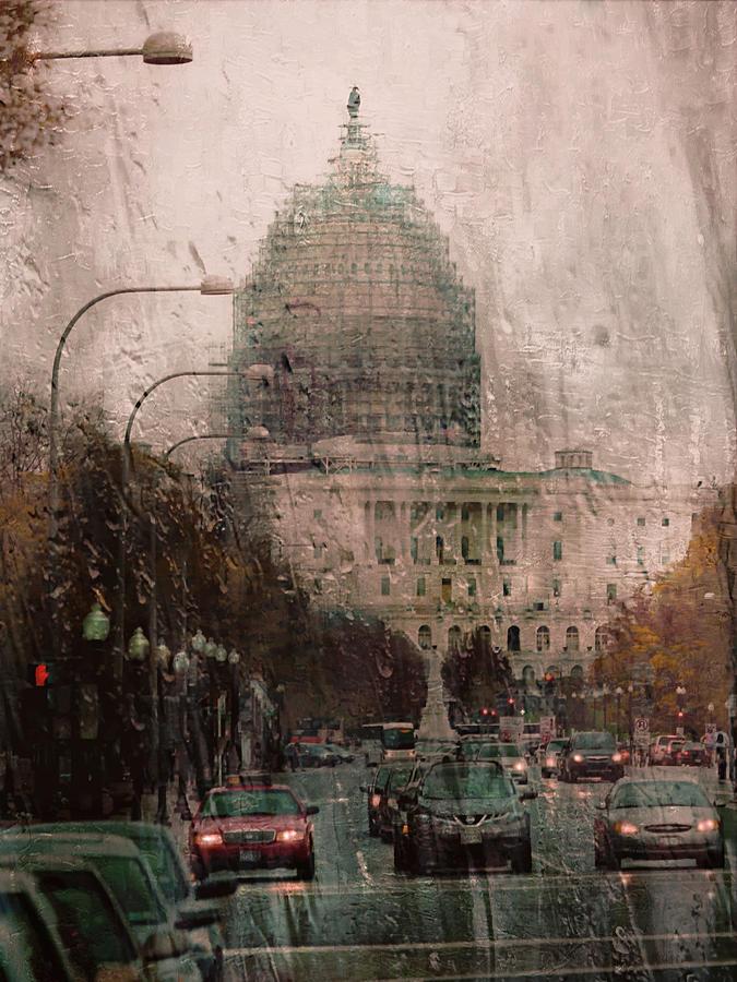 Rainy Dc Photograph by Scott Fracasso