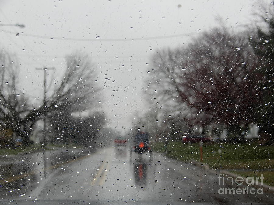 Amish Photograph - Rainy Fall Day by Christine Clark