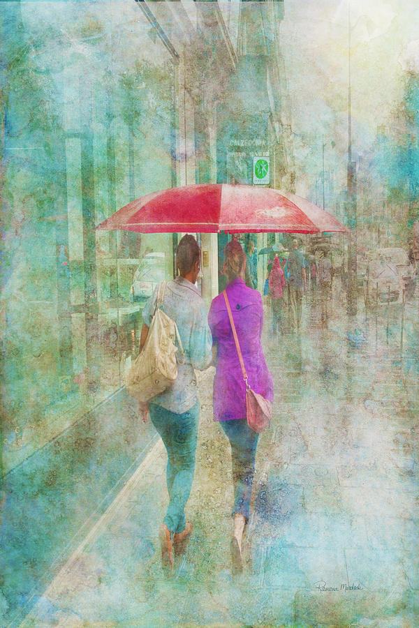 Paris Digital Art - Rainy In Paris 1 by Ramona Murdock