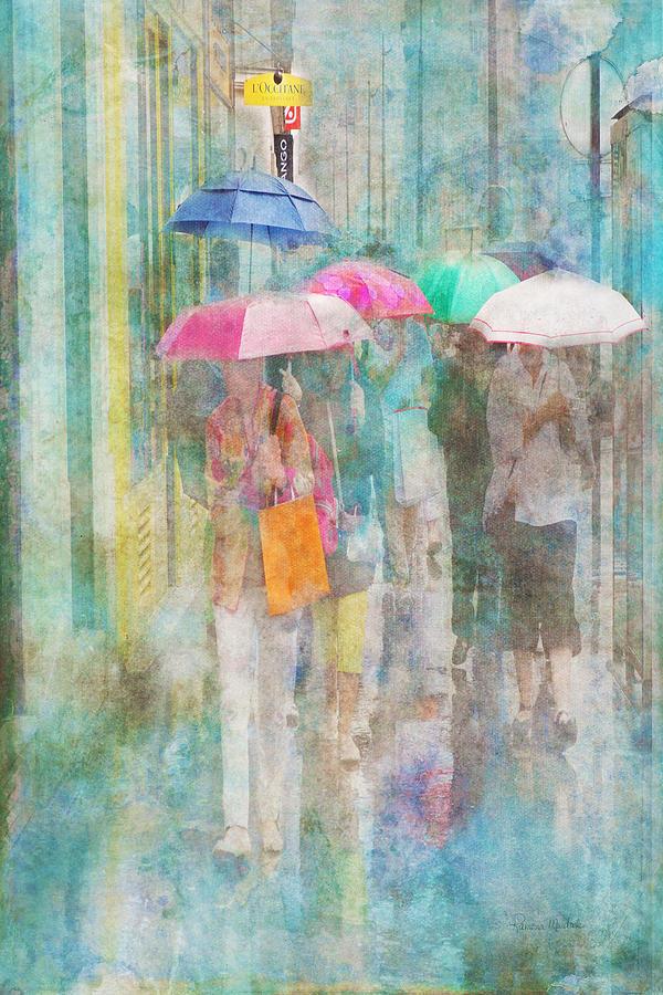 Paris Digital Art - Rainy In Paris 2 by Ramona Murdock
