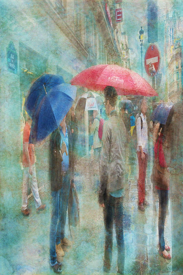 Rain Digital Art - Rainy In Paris 6 by Ramona Murdock
