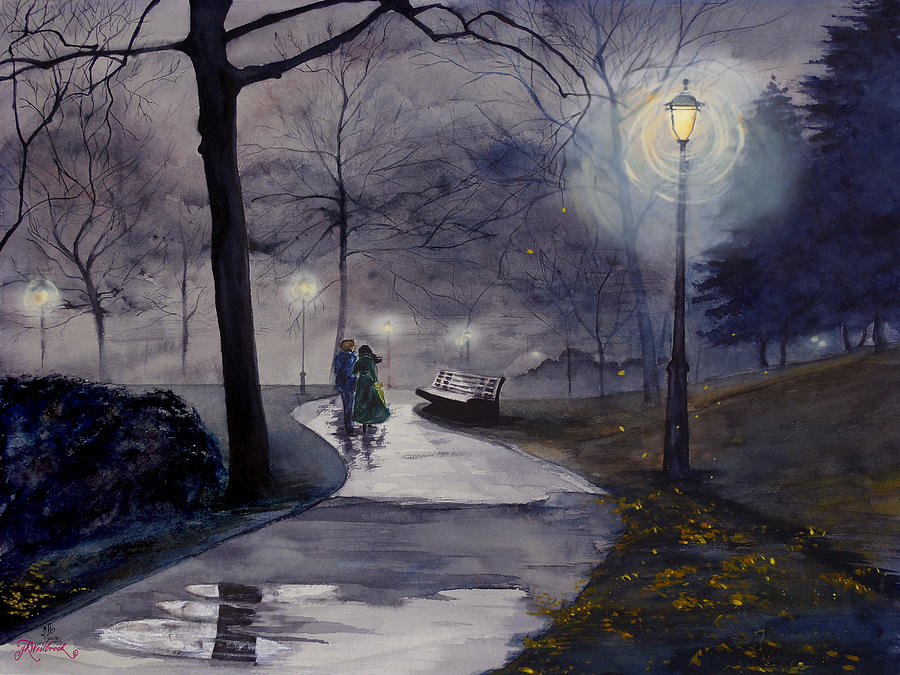 Rainy Night in Central Park by Jill Westbrook