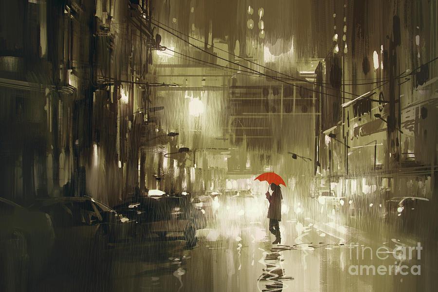 Rainy Night Painting