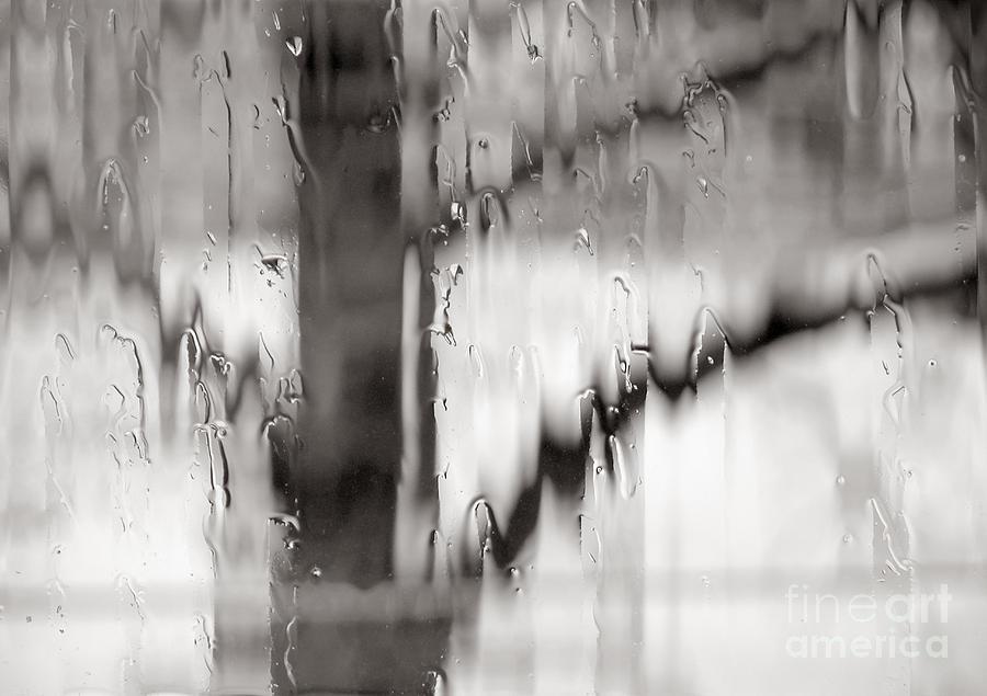 Window Photograph - Rainy Pane by Lionel F Stevenson
