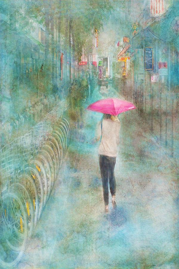 Rain Digital Art - Rainy In Paris 3 by Ramona Murdock