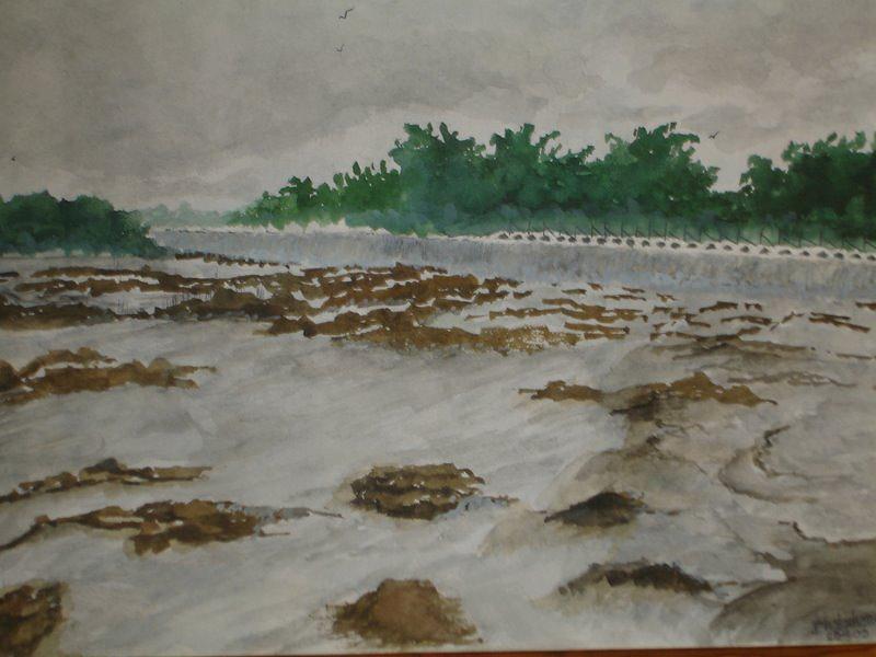 Landscape Painting - Rainy Season by Bhalchandra Salunkhe