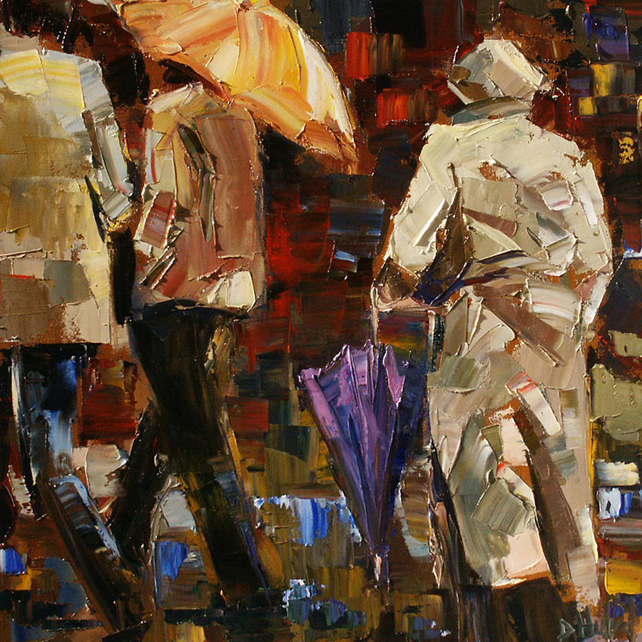 Umbrellas Painting - Rainy Season by Debra Hurd