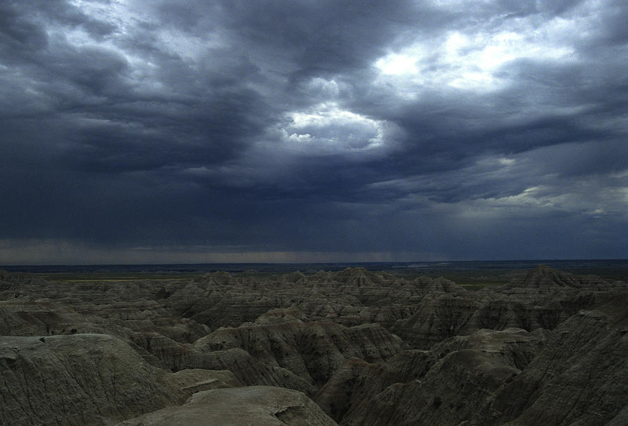Rainy Sky Over The Badlands Photograph By Stacy Gold