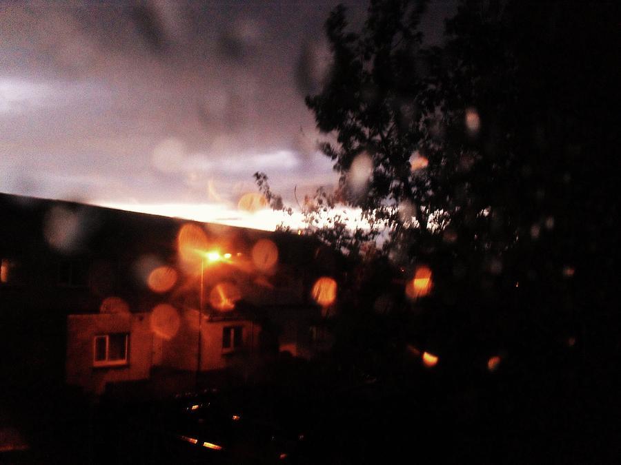 Rain Photograph - Rainy Sunset by Chrisselle Mowatt