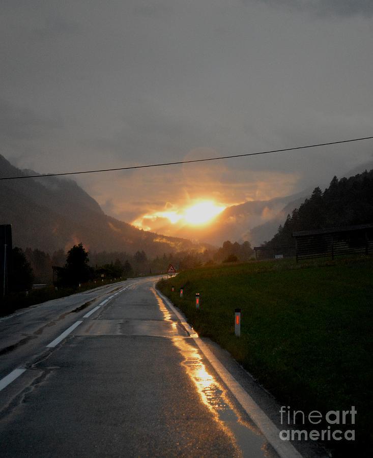Slovenia Photograph - Rainy Sunset by Photos  By Zulma