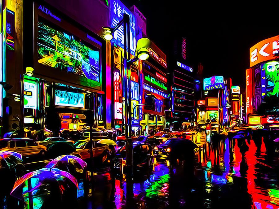 Rainy Tokyo Art Photograph By Ron Fleishman