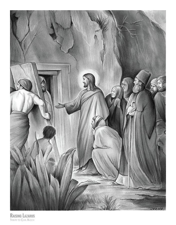 Raising Lazarus Drawing