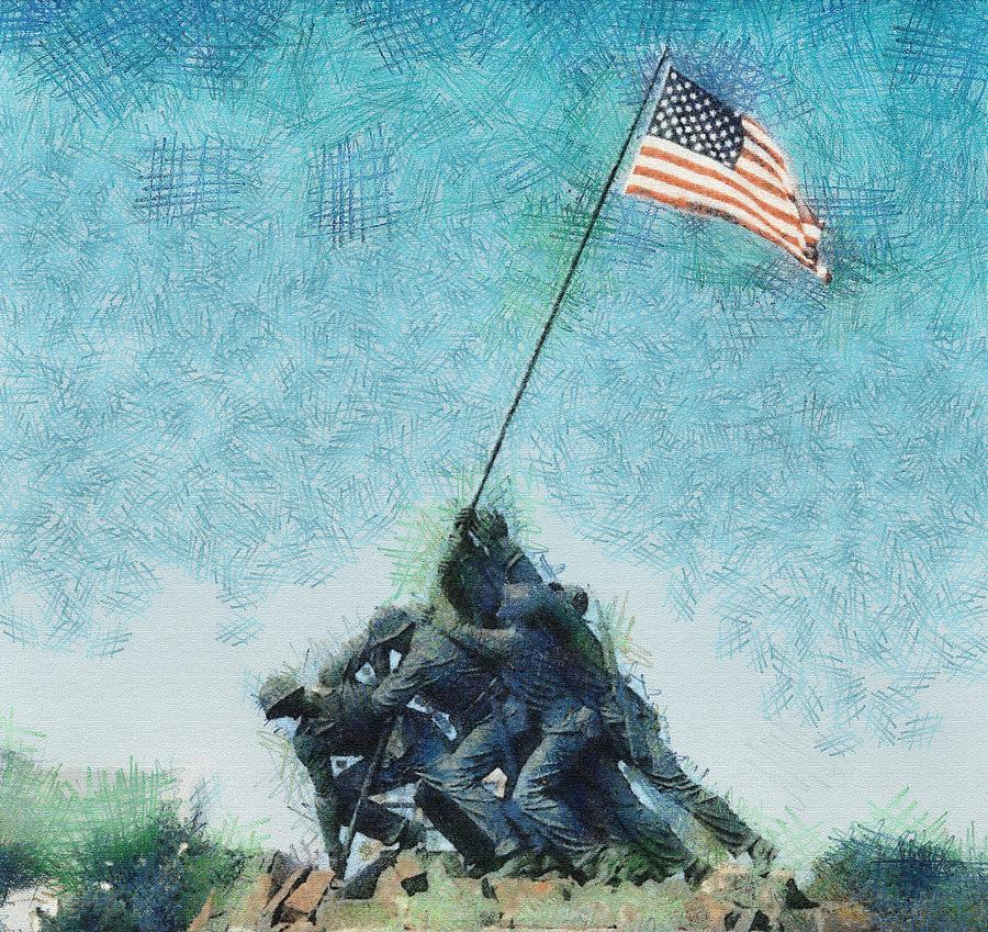 Secure Photograph - Raising The Flag by John Winner