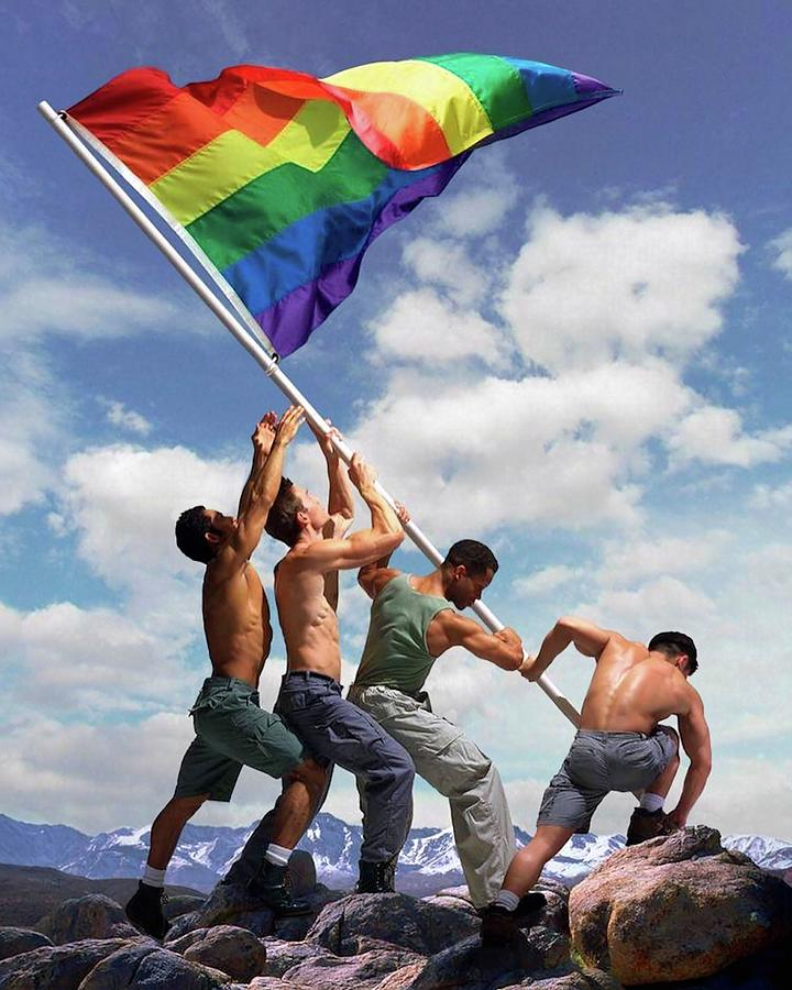 Raising the Rainbow Flag by Troy Caperton