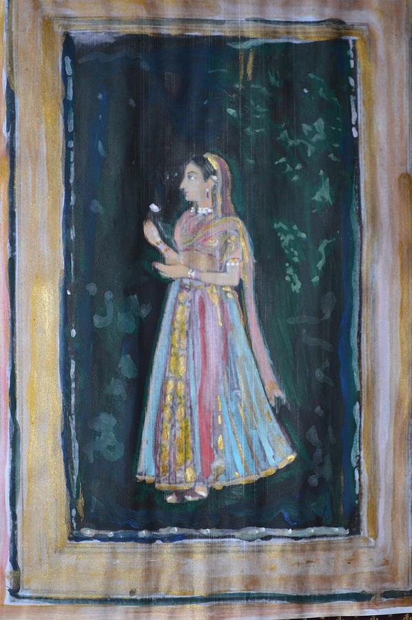 Queen Painting - Raj Kumari by Vikram Singh