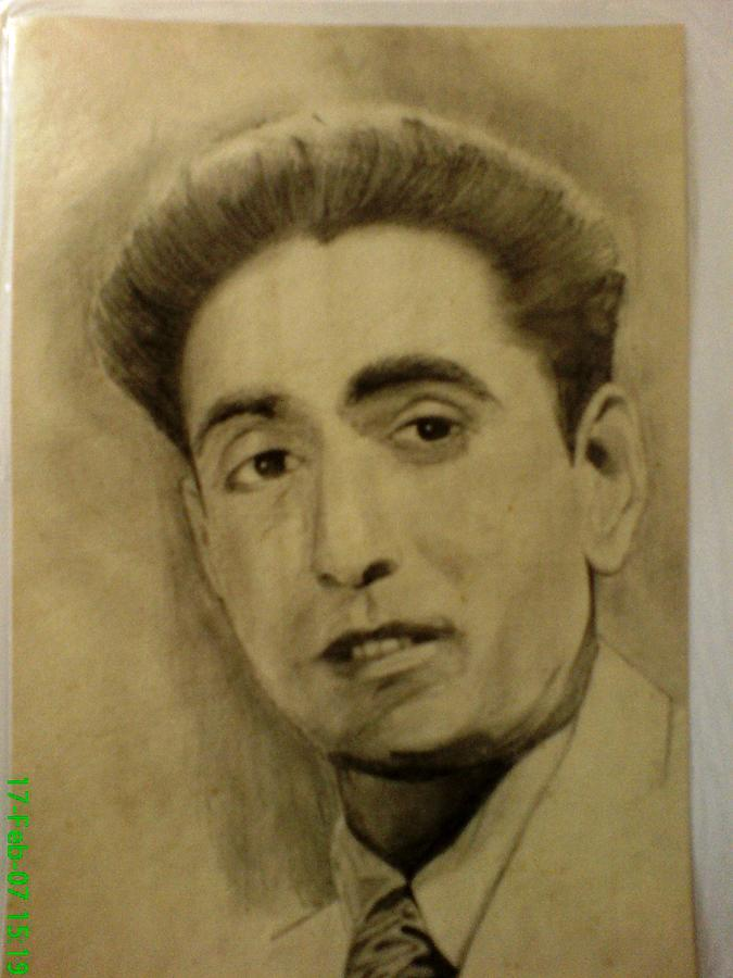 Actor Drawing - Raja Gosavi by Vishal Mane