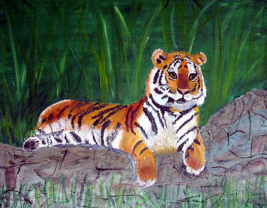 Animal Painting - Rajah by Marcia Paige