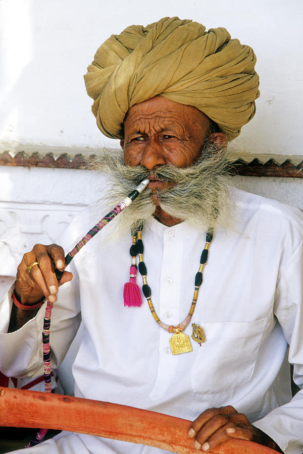 India Photograph - Rajasthani Elder by Michele Burgess