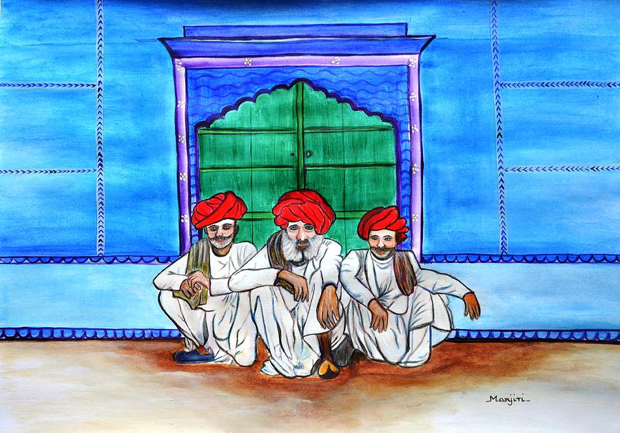 Rajasthani Men Vishranti Painting