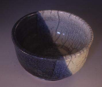 Bowl Ceramic Art - Raku Bowl by Megan Burns