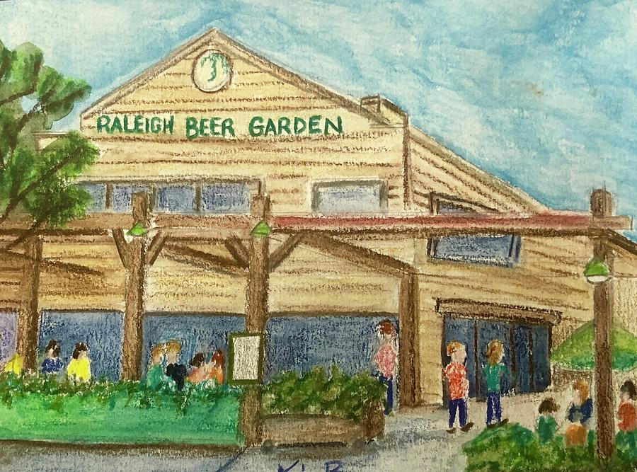 beer painting raleigh beer garden by kimberly balentine - Raleigh Beer Garden