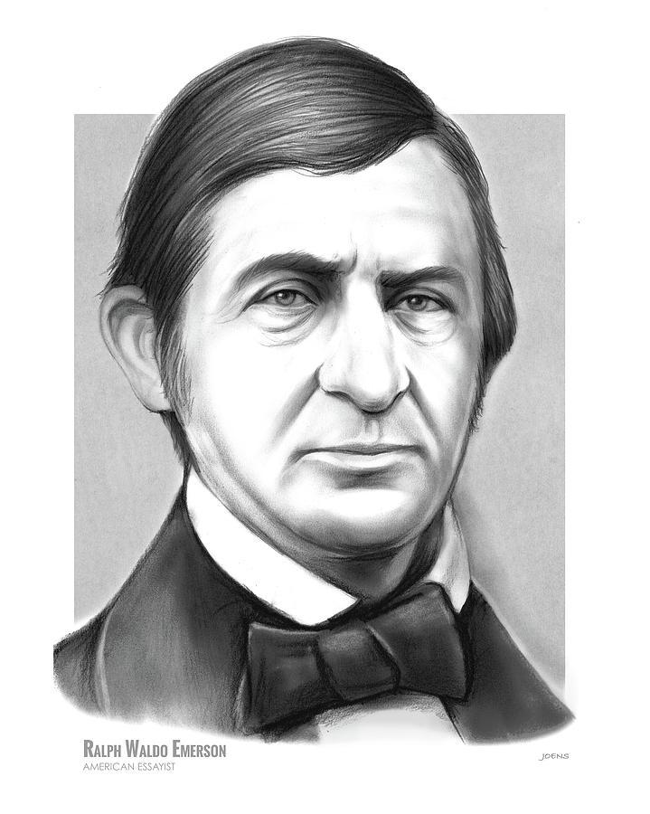 Ralph Waldo Emerson Drawing - Ralph Waldo Emerson by Greg Joens