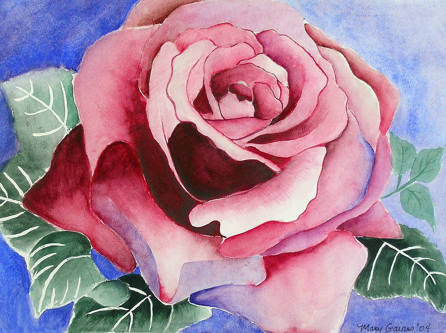Pink Rose Painting - Ramblin Rose by Mary Gaines