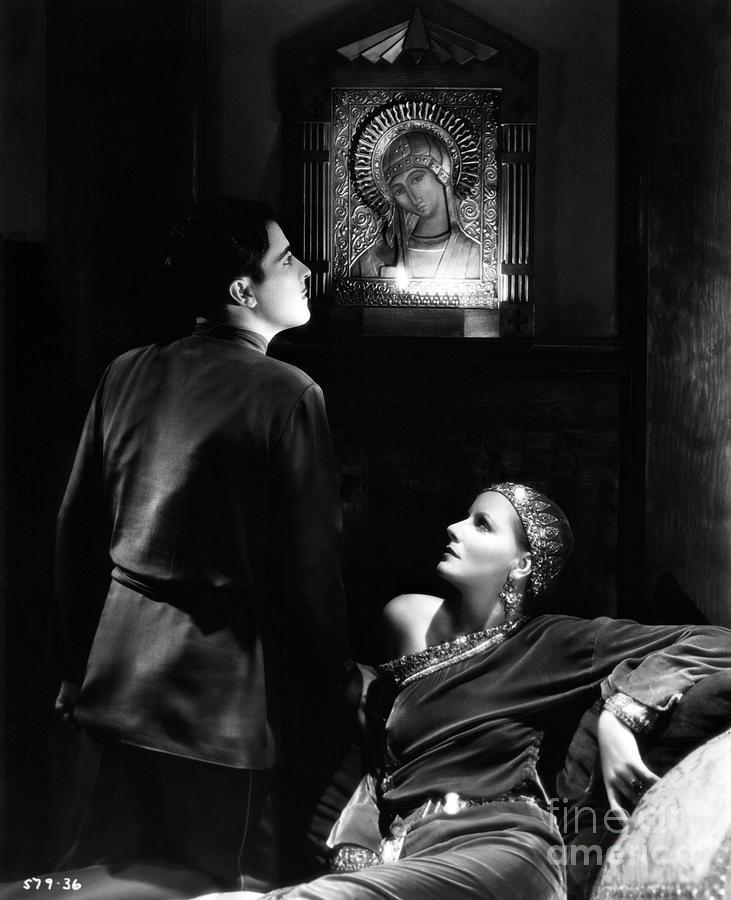 Ramon Novarro Photograph - Ramon Novarro Greta Garbo Mata Hari 1931 by Sad Hill - Bizarre Los Angeles Archive