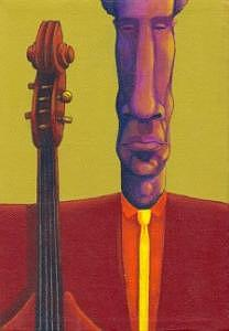 Jazz Painting - Ramone Jazzman by Naomi Shadle