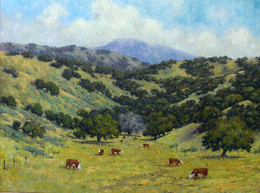 California Landscape Painting - Ranch by Marv Anderson