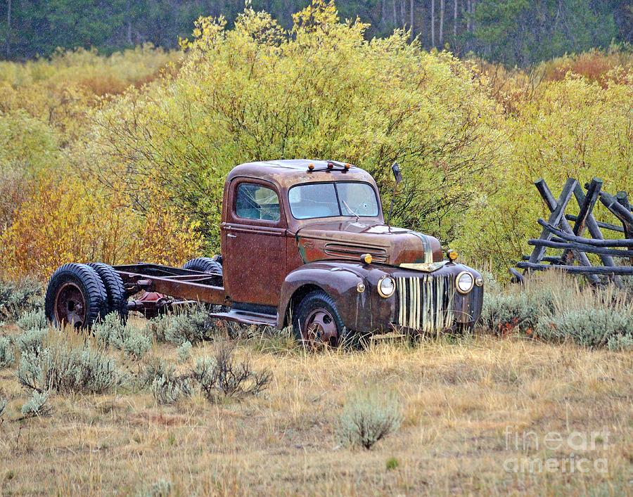 Abandoned Photograph - Ranch Truck II by Brad Christensen