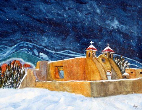 New Mexico Church Painting - Ranchos De Taos Church by Abad Sandoval