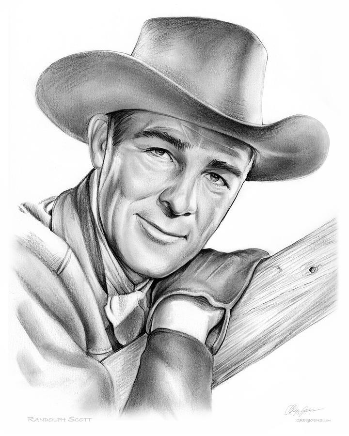 Randolph Scott Drawing