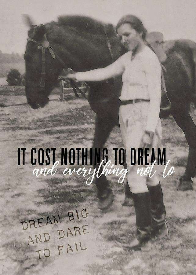 Horse Photograph - Random Moment Quote by JAMART Photography