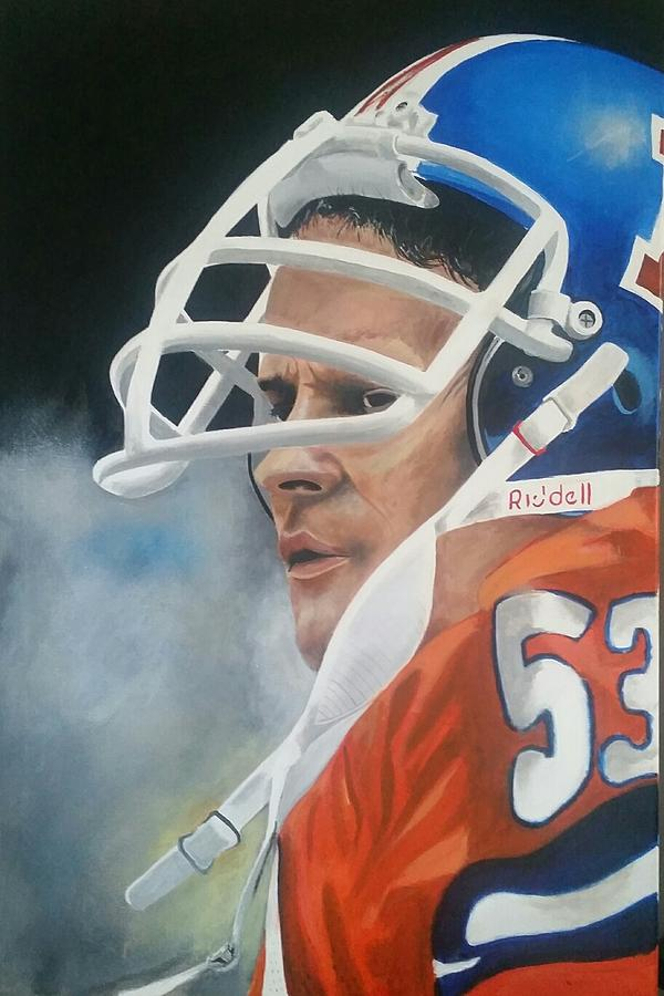 Broncos Drawing - Randy Gradishar by Don Medina
