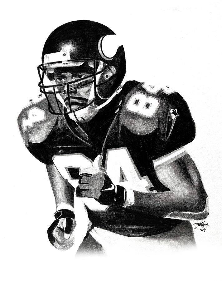Randy Moss Drawing - Randy Moss by Devin Millington