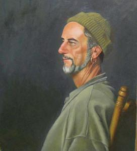 Portrait Painting - Randy by Pat Aube Gray