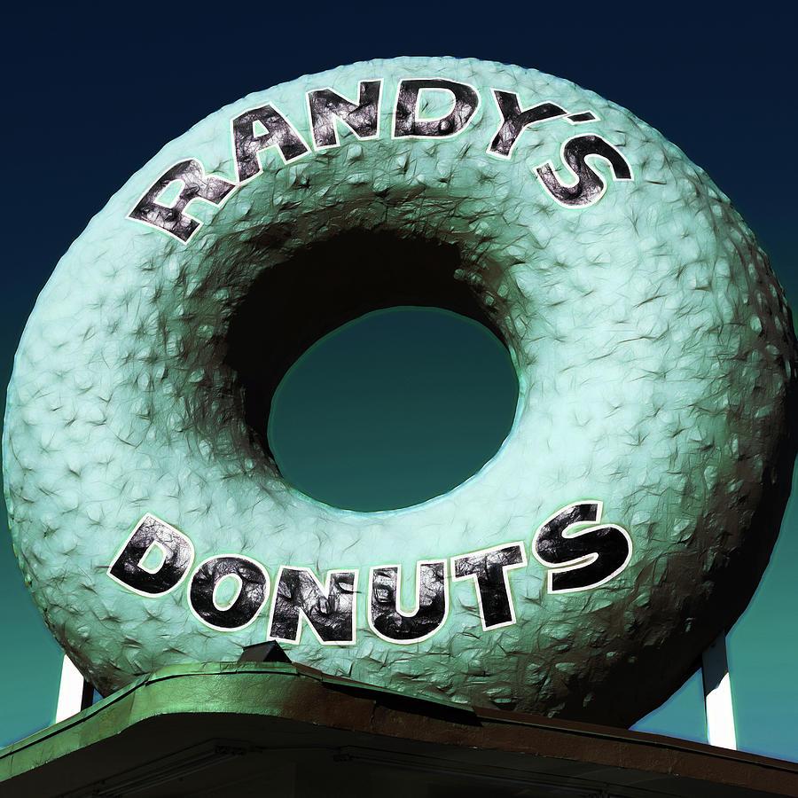 Randy's Donuts Photograph - Randys Donuts - 12 by Stephen Stookey