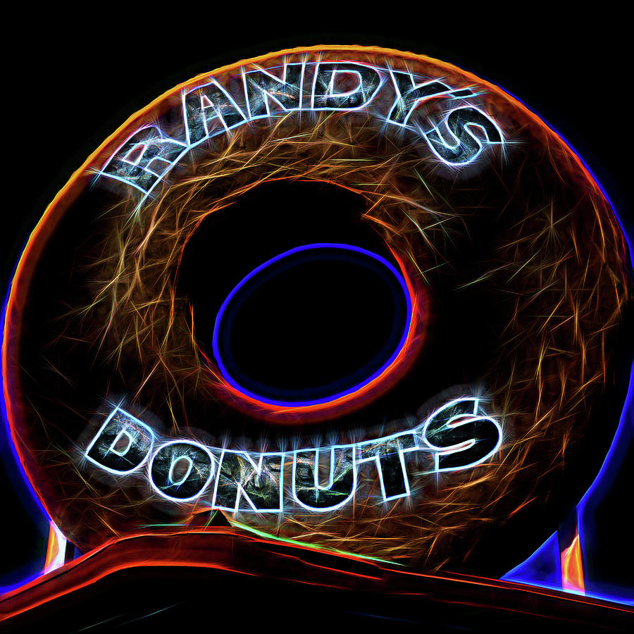 Randy's Donuts Photograph - Randys Donuts - 5 by Stephen Stookey