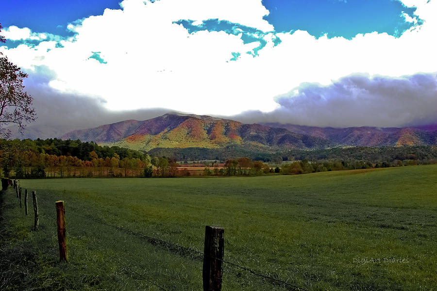 Smokey Mountains Photograph - Range Neath The Mountain by DigiArt Diaries by Vicky B Fuller
