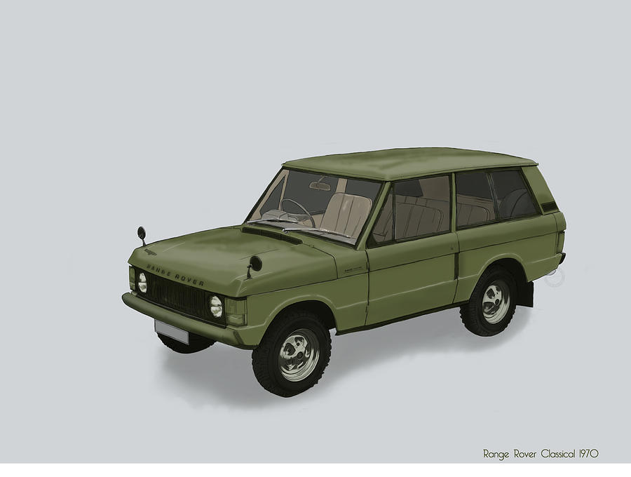 2015 Mixed Media - Range Rover Classical 1970 by TortureLord Art
